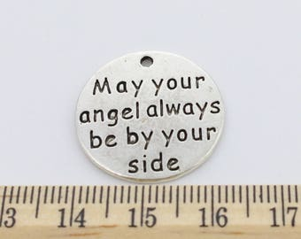 "2 ""May your angel always be by your side"" Charms - EF00204"