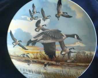 "Vintage Bradford Exchange Collectible Plate (circa 1986) - ""The Landing"" - Donald Pentz."