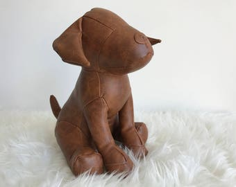 LIAM Hand crafted LEATHER doorstop