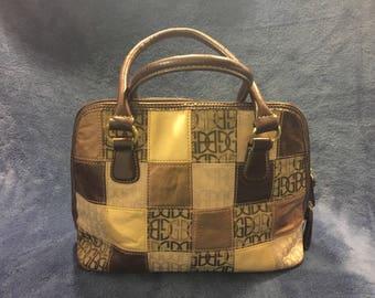 Giani Bernini Brown and Gold Shoulder Bag