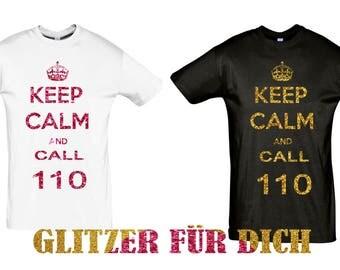 100% saying glitter shirt gift sayings tshirt glitter 187 police code 110 police