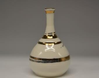 Porcelain Bud Vase with 24k Gold Lustre