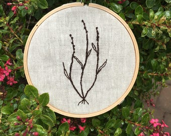 Simple florals, blackwork, embroidery, minimalistic