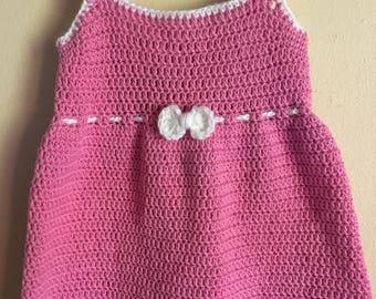 Summer Peach Toddler Dress