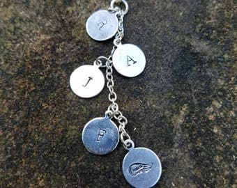 Waterfall Initial Necklace