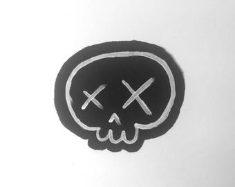 Crosse Eyed Skull Paint Patch