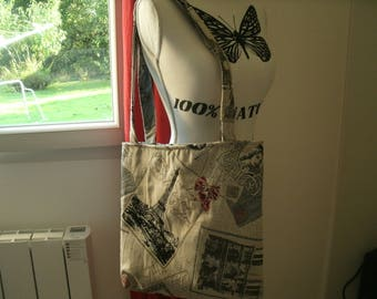 great Paris themed tote bag