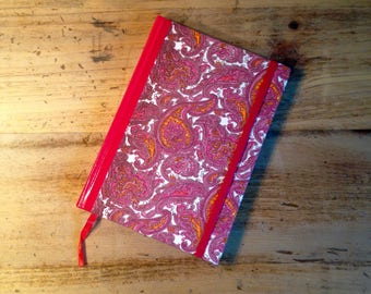 Pink Paisley Fabric Covered Journal