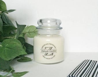 17oz Oakmoss and Amber Soy Candle | Apothecary Jar Scented Soy Candle