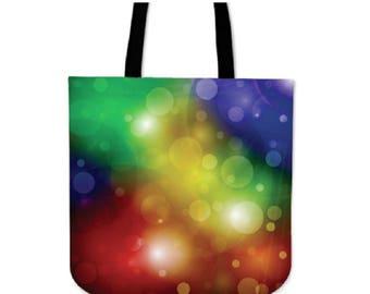 Rainbow Bubbles Canvas Tote Bag
