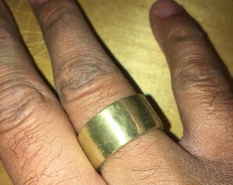 Solid Brass Ring.  Biker Ring.