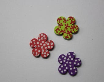Embellishments-light wood with 3 color patterns