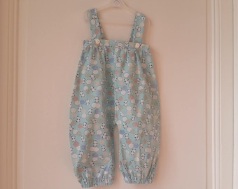 Romper legs long 12 months in Japanese inspired cotton
