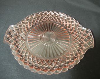 Waterford Waffle Handled Tray by Hocking Glass