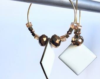 Elegant hoop earrings & pendants! These unusual earrings earrings fancy Bohemian style