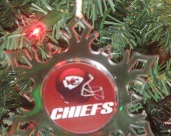 Kansas City Cheifs Personalized Acrylic SnowFlake Ornament *Free Personalization*