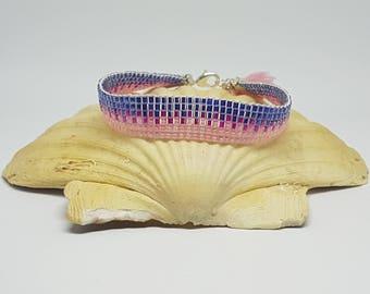 Bracelet CUBE, bracelet, Seed beads.