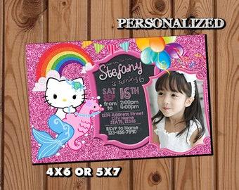 Hello Kitty Invitation,Hello Kitty Birthday Invitation,Hello Kitty,Girl Invitation,Hello Kitty Birthday Party,Hello Kitty Birthday Invite SL
