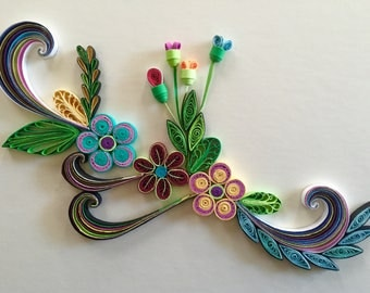 Flower Design: Handmade Beautiful Quilling Art-Special Wall Decoration-Beautiful Home Decoration-Gift For Occasions-Handmade Special Gif