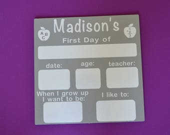 Reusable First and Last Day of School dry erase sign