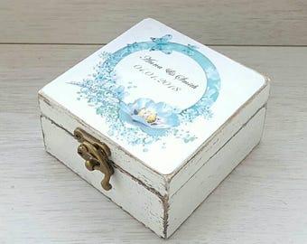 Custom wedding ring box, Personalized wedding holder, Rustic ring box, Ring bearer box, Engagement rustic box, Wooden ring box, Jewelry box