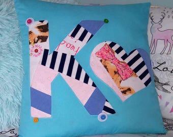 New* Initial Keepsake Cushion