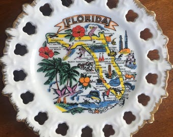 Vintage Florida Collectible Plate
