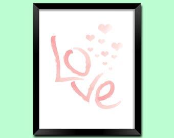 Love Sign, Love Wall Art, Romantic Wall Art Prints, Love Bedroom Decor, Love Wall Poster, Love Wall Decor, Love Printable Art | M0026