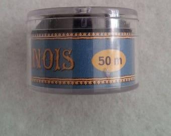 No. 40 - 50 m collar Capsule ice-cold linen thread. Black 180