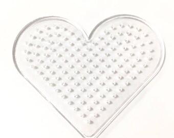 X 1 plate diameter 9x8cm heart hama bead