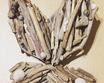 Handmade driftwood butterfly