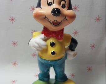 Vintage 1960 Mickey Mouse Figurine