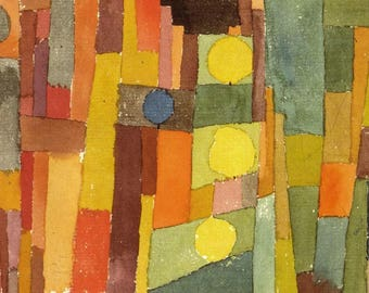SET of TABLE semi-rigid ORIGINAL AESTHETIC WASHABLE and durable - Abstract artists - Paul Klee - in the style of Kairouan