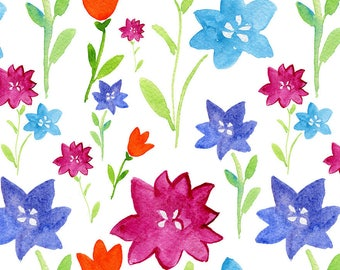 ORIGINAL design, durable and WASHABLE PLACEMAT - watercolor flowers 1 - Classic.