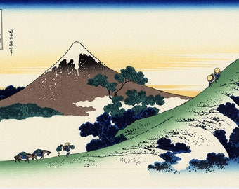 SEMI-rigid PLACEMAT, ORIGINAL, AESTHETIC WASHABLE and durable - Hokusai. Inumi pass in Kai province (2).