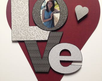 Photo Mat Love Collage Mat Custom Color