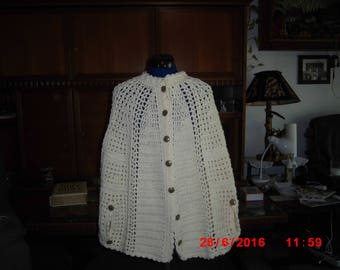 creme colored poncho