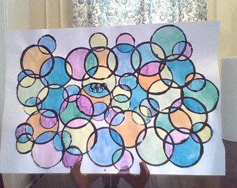 Water Color Circle painting