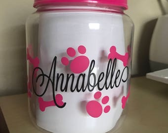 Personalized animal treat container