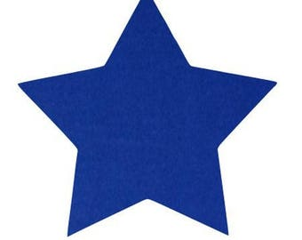Star 10 X 9.5 cm Blue Velvet pattern fusible