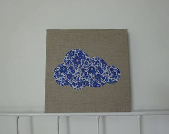 frame cloud, linen and liberty betsy indigo