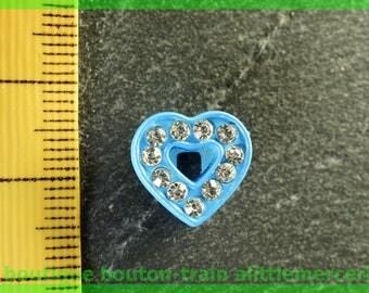 Pearl Heart busy N5 rhinestone bracelet