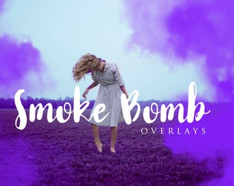 35 Colored Smoke Bomb Overlays, Colorful Smoky, Fog, Fine Art Photography, Professional Photographer, PNG, Tool, Editing, Photoshop