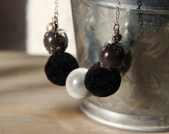 Necklace • CORA color white / grey / black
