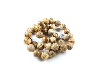 Natural Jasper beads 10 +/-10mm LBP00164