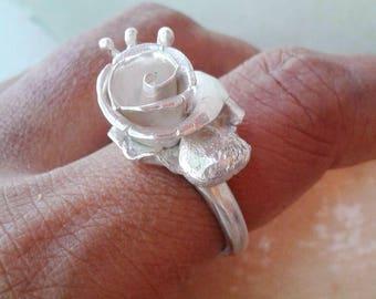 Mini Coral Reef Silver Ring / Statement Ring / Ocean Ring