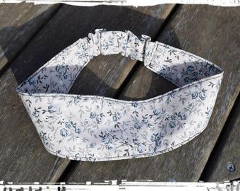 "Elastic headband ""liberty blue grey"""