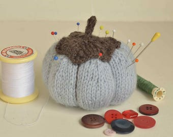 Miss blue pumpkin pin cushion