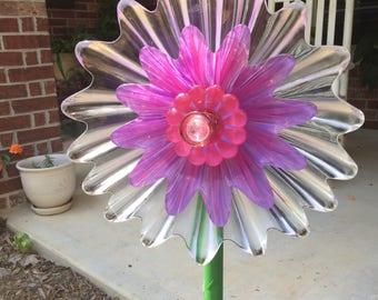 glass flower stake for flower garden