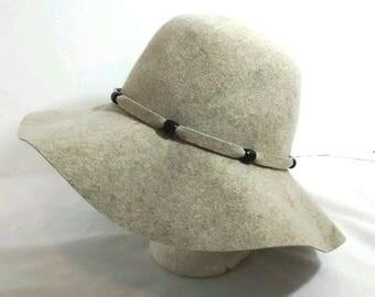 "Vintage ""Doeskin"" Wool Felt Floppy Hat, Geo W Bollman, Evelyn Varon"